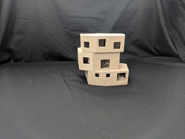 Home all at Once photograph of wood model