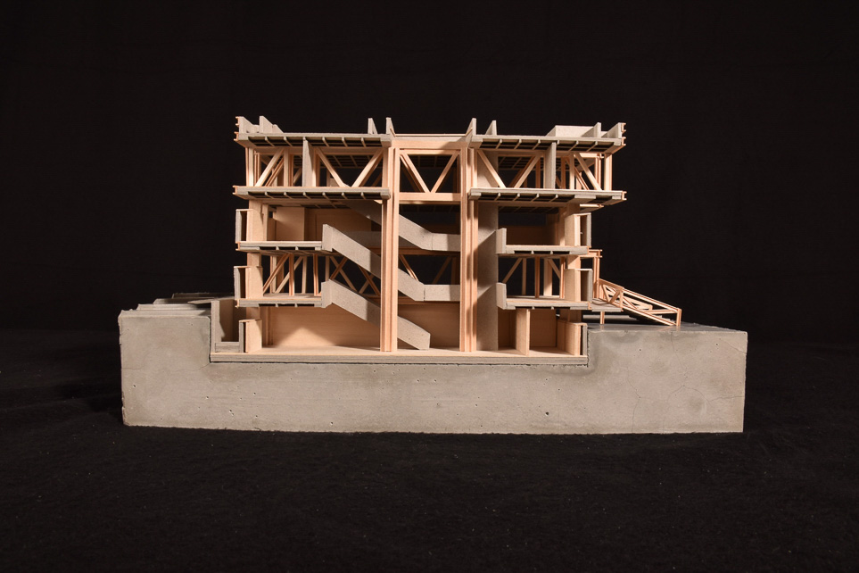 Minimaliteracy photograph of model section view