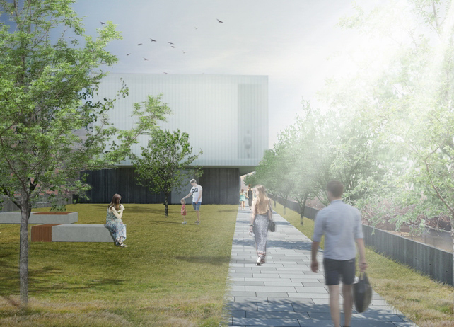 Tara Donovan Museum site rendering