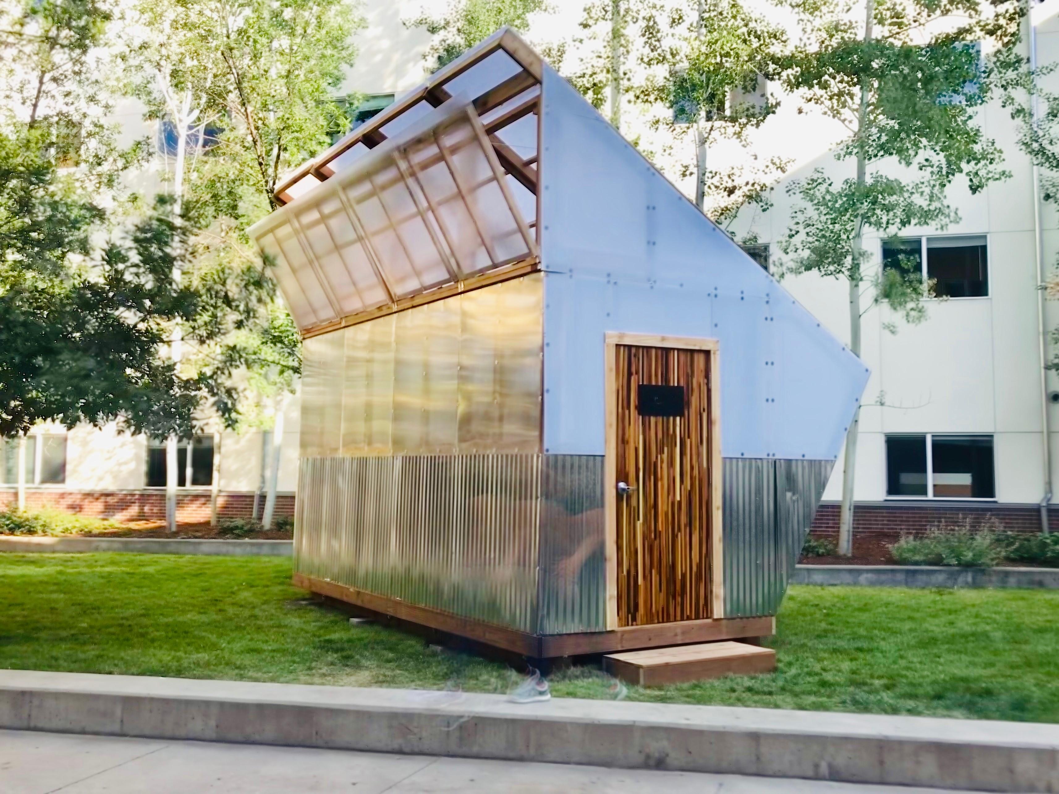 exterior of design build greenhouse
