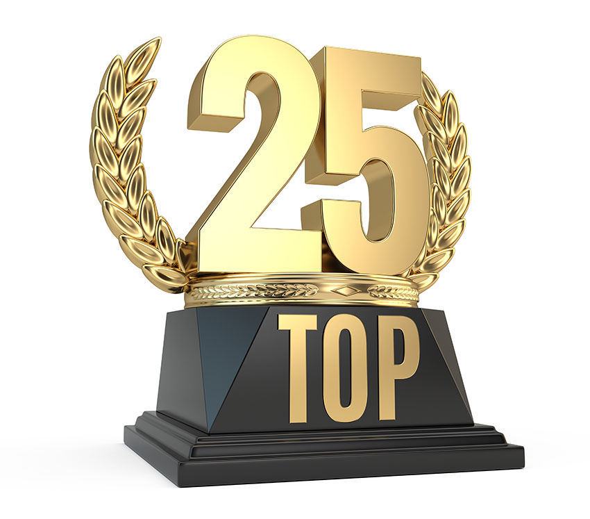 Trophy for Top 25 ranking
